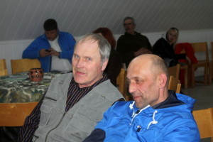 Andres Supp ja Hannes Kivil eesti raskeveohobuste kasvatajate aastakoosolekul 27veebruar2015 Atla Mõis
